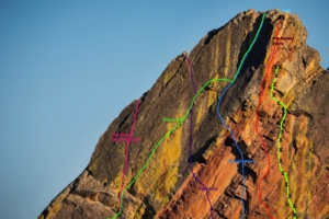 yellow streaks sport climbing